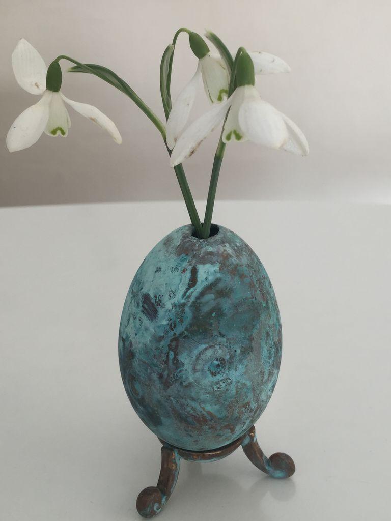 Image of   ARTbyKobber - Gåseæg - m. vasehul / forkobret