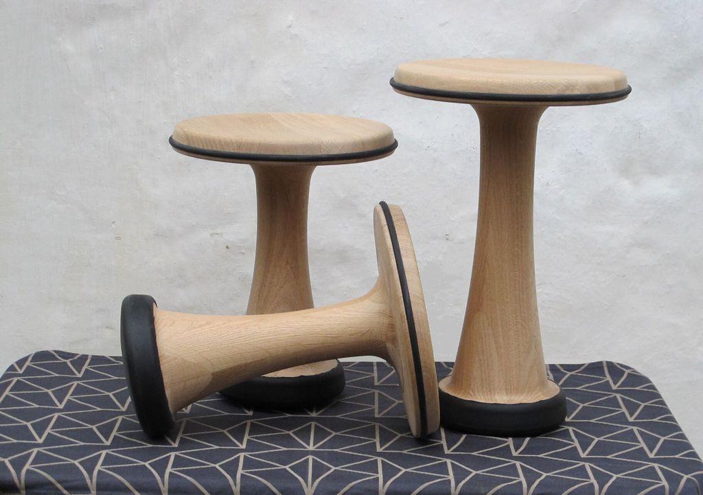 OneLeg wood skammel 32cm - Træ
