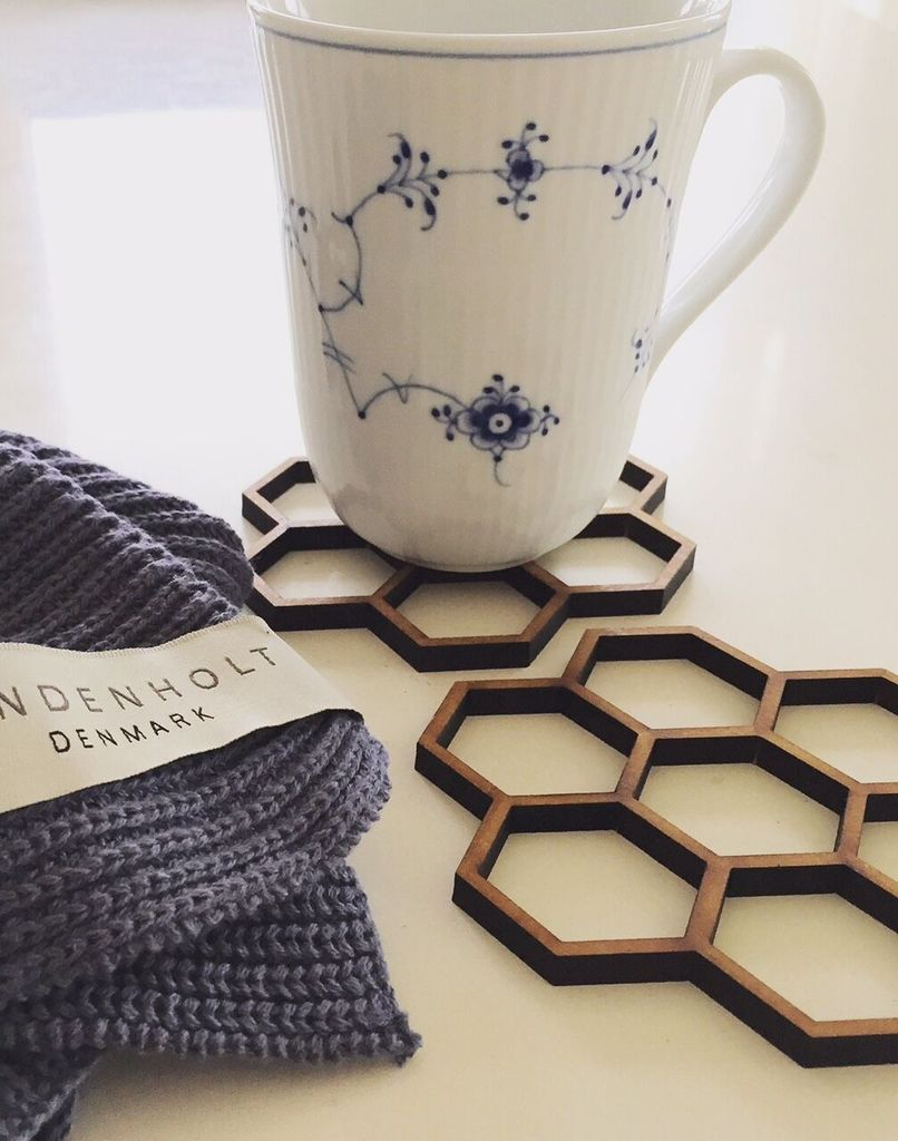 Image of bySandenholt - Honeycomb Coasters