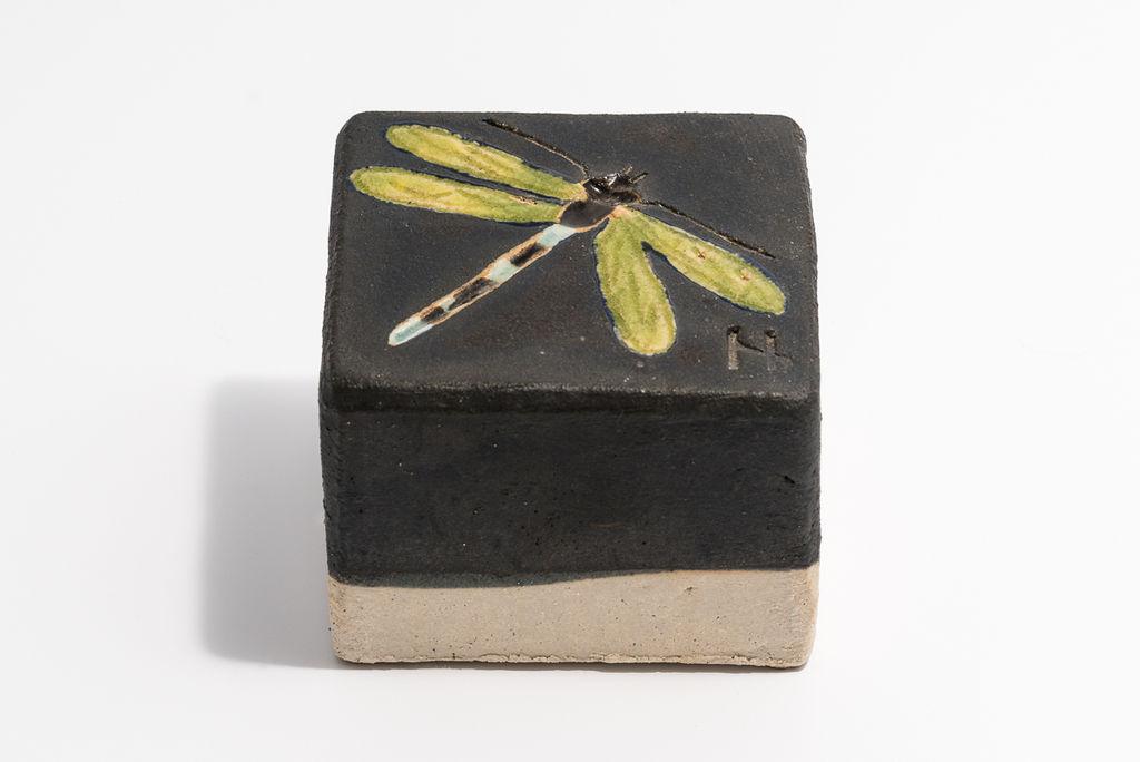 Helle Nørby - chaussétsten - sort/lime guldsmed