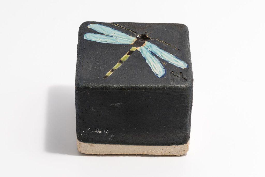Image of Helle Nørby - chaussétsten - sort/blå guldsmed