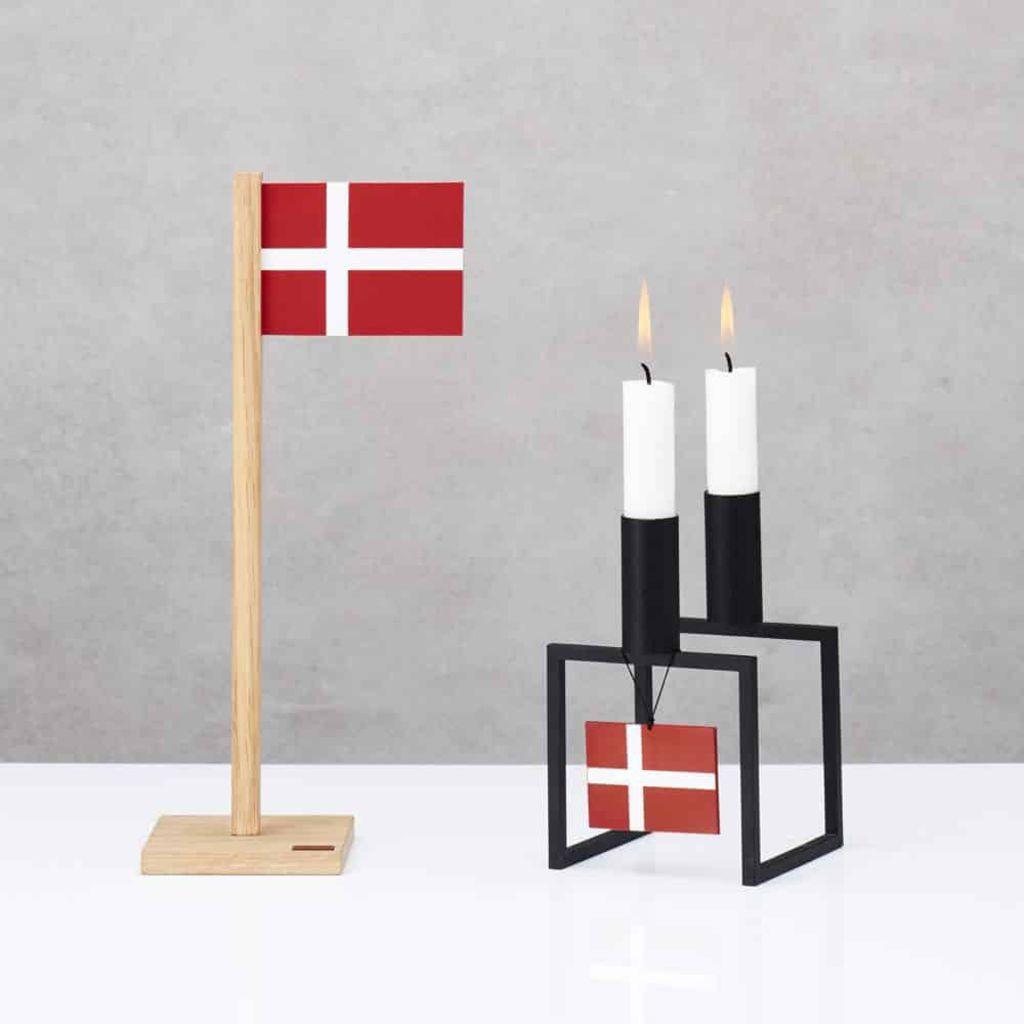 Billede af Felius - Dansk flag - lige vandret til ophæng - 2 stk.