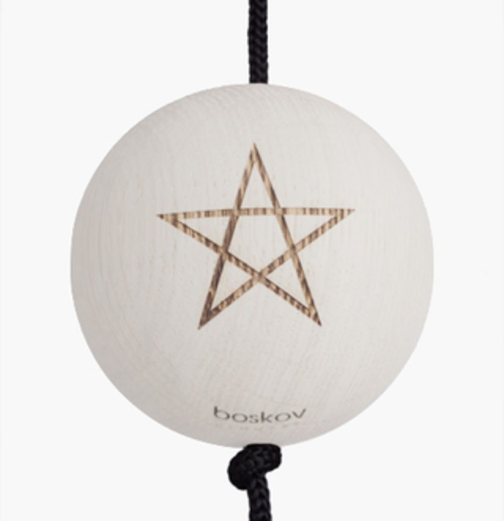 Image of   Nordic by hand - SNOREN - Starball white - painted oak